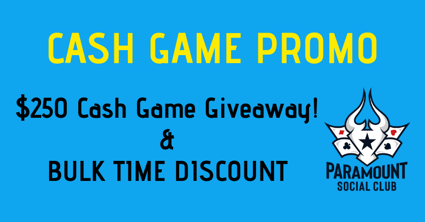 $250 Cash Game Giveaway!