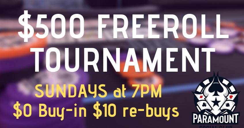 $500 Freeroll