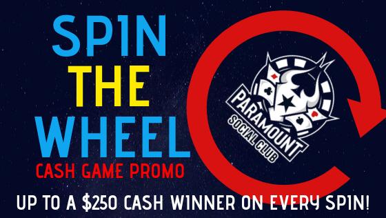 Spin The Wheel Promo Paramount Social Club