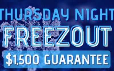 $80 FREEZEOUT TOURNAMENT