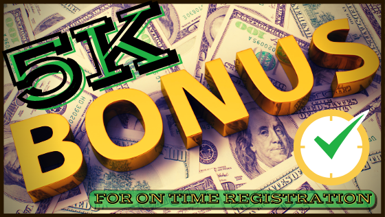 On-Time Registration Bonus
